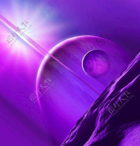 抽象外太空插画图片