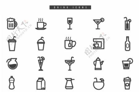 饮料图标图片