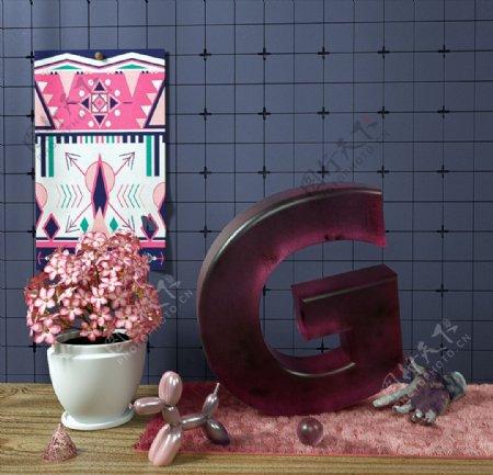 C4D模型桌面装饰品花盆图片