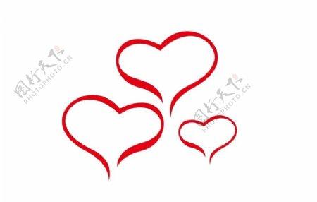 爱心爱【心边框装饰图片⌒
