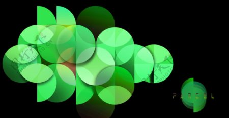 绿色抽象图形背景图片