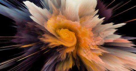 大气爆炸粒子冲击力背景图片