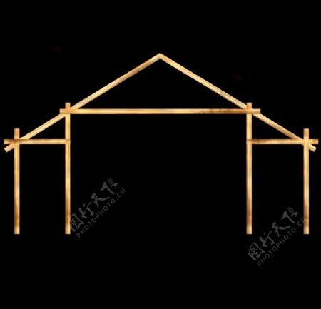 婚礼效果图素材房型木架图片