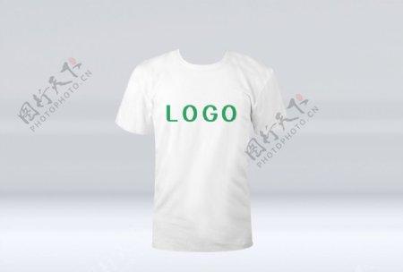 白色T恤样机图片