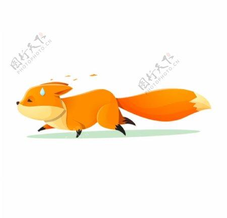 奔跑的狐狸插画图片