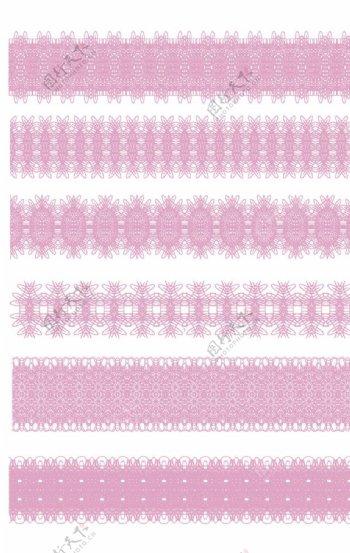粉色蕾丝花边图片