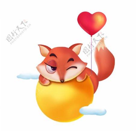 卡通手绘可爱小狐狸图片
