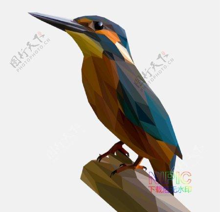 背景图素材鸟图片低面模版矢量