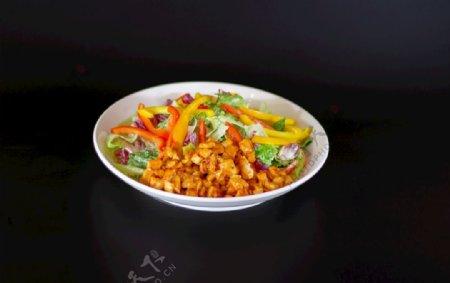 彩椒鸡肉沙拉图片