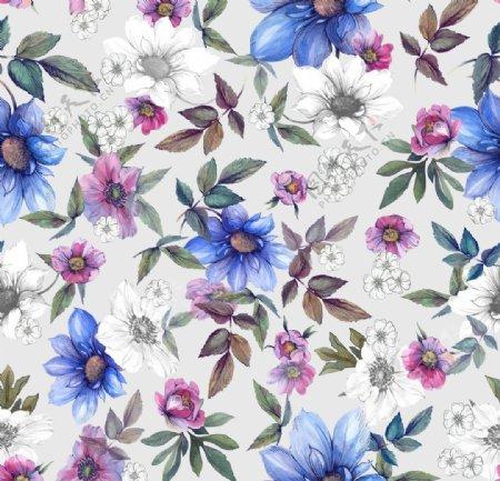 水彩花朵图片