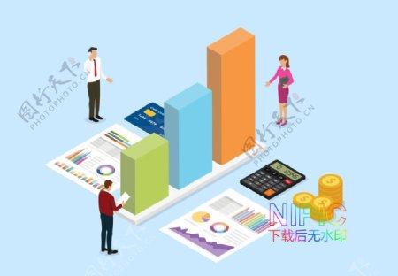 美元财务图形手机eps背景D图片