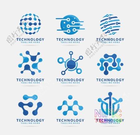 生物学有机粒子矢量分子背景图图片