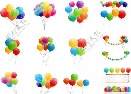 彩色漂浮气球图片